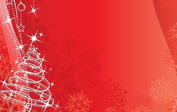Red vector background Christmas & New-Year - Free vector #169463