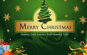 Merry Christmas Vector Art - Free vector #169483