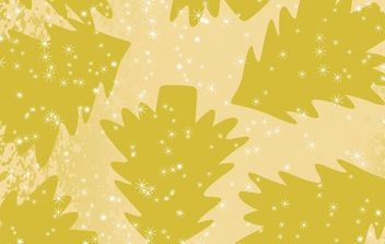 Yellow Tree Vintage christmas background - vector gratuit #169543