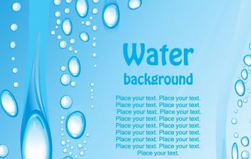 Beautiful blue water background - Free vector #170063