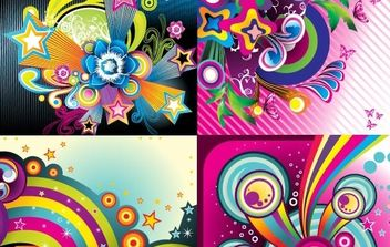 Wonderful backgrounds - vector gratuit #170143