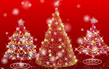 Red Christmas Tree - vector gratuit #170153