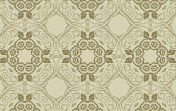 Green Floral Wallpaper - Free vector #170193