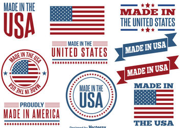 Made in USA Label Set - vector #170293 gratis