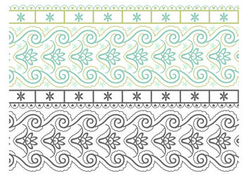 Seamless Paisley Doodle Border - Free vector #170323