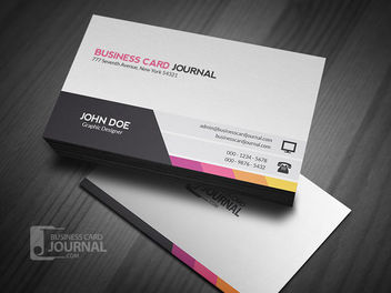 Classy Two Sided Business Card - бесплатный vector #170383