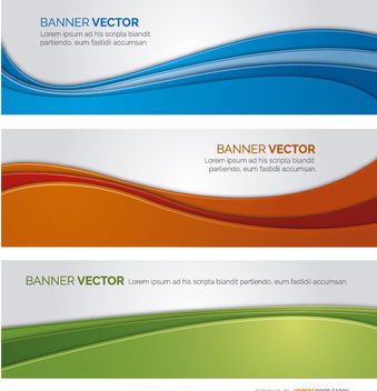 3 Wavy color banners - Free vector #170403