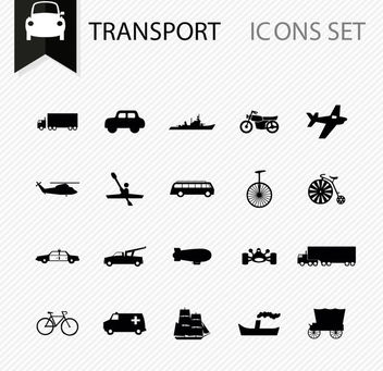 Several Minimal Transportation Icons - vector gratuit #170433