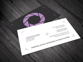 Minimal Photography Business Card - vector gratuit #170483