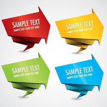 Arrowhead Origami Banner Templates - vector #170503 gratis