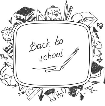 Pencil Sketch Back to School Illustration - Kostenloses vector #170613