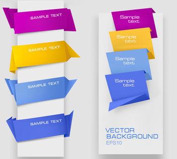Origami Style Template Web Corner Set - Free vector #170803