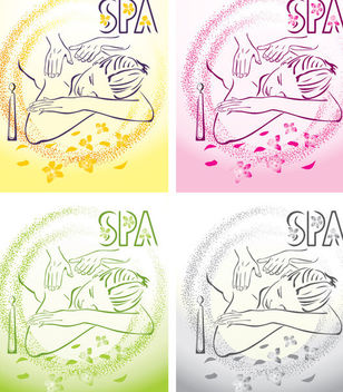 Simplistic Spa Concept Girl Receiving Message - vector gratuit #170833