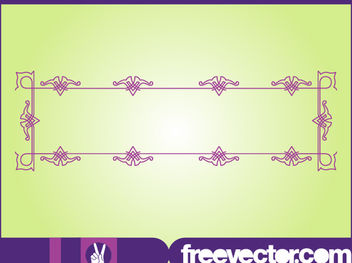 Antique Purple Frame - Free vector #170923