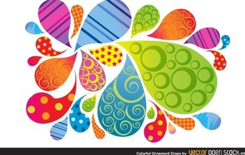 Colorful Ornament Drops - Free vector #170933