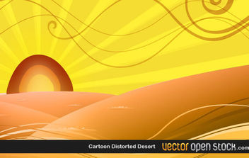 Cartoon Distorted Desert - vector gratuit #171023