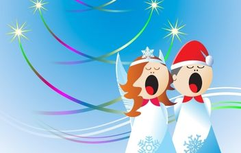 Christmas Angels Free Vector Design - Free vector #171193