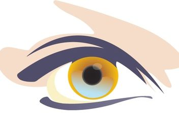 Woman eyes 1 - vector #171243 gratis