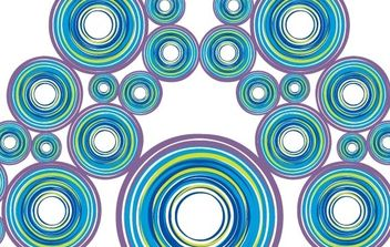 Peacock Circles - vector gratuit #171303