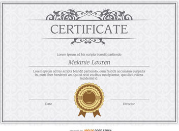 Diploma template - Free vector #171423