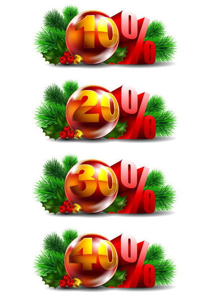 Promotional Christmas Ball Decoration Pack - Free vector #171583