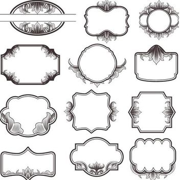 Vintage Ornate Frame Pack - Free vector #171693