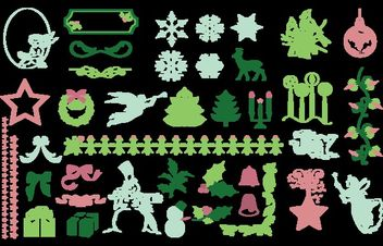 Christmas Design Element Pack - Free vector #171773