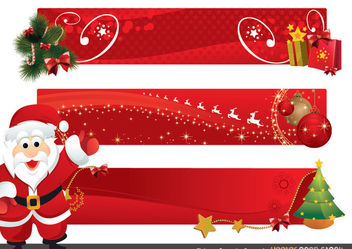 Christmas Promotion Banners - Free vector #171853