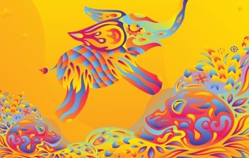 Psychedelic Elephant - бесплатный vector #171953
