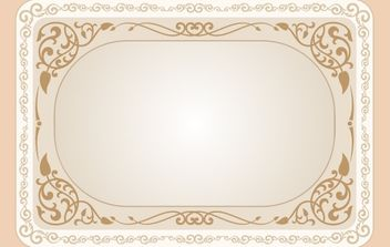 Vintage Curly Floral Frame Template - Free vector #172033