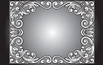 Gray Vintage Floral Frame - Free vector #172063