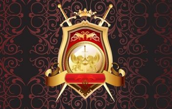 Vector Heraldic Shield - Kostenloses vector #172213