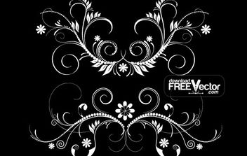 Vector Floristic Elements - Free vector #172223