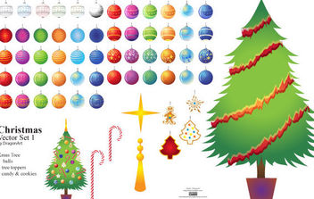 Christmas Vector Set1 - Free vector #172243