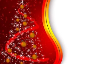 Red tree christmas background - vector gratuit #172473
