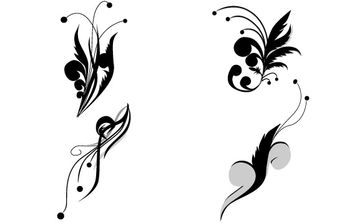 Floral Vectors Set - Kostenloses vector #172663