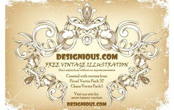 Free vintage floral frame - Free vector #172723
