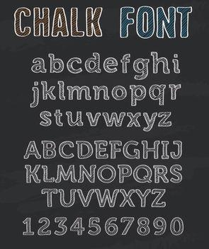 Chalk Font alphabet - Kostenloses vector #172873