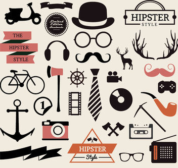 Hipster Elements Collection - vector gratuit #172883