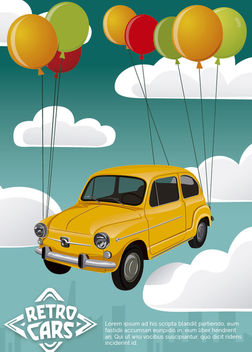 Fiat 600 retro car - vector #172893 gratis