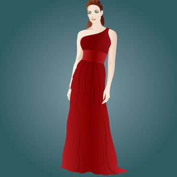 Hot Party Dressed Beautiful Girl - Free vector #173073