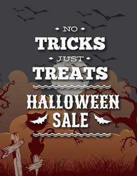 Halloween Vintage Sale Promos - Free vector #173083