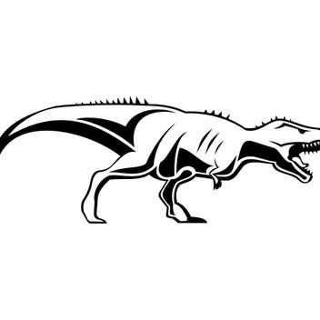 Tyrannosaurus rex Dinosaur Sketch - Free vector #173183