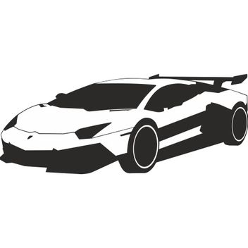 Luxury Racing Car Lamborghini - vector gratuit #173283