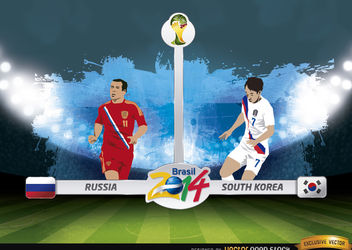 Russia vs. South Korea match Brazil 2014 - Free vector #173403