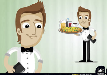 Waiter Cartoon Character - Free vector #173433
