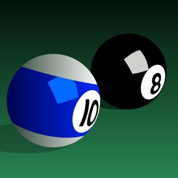 Billiard balls vector - vector #173513 gratis