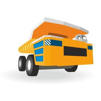 Big truck vector - vector #173523 gratis