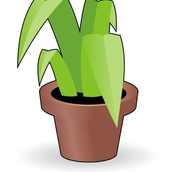 Flower in a pot - Free vector #173543