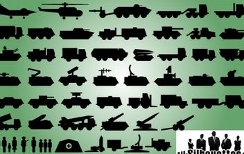 Military Technique Icon Pack - Kostenloses vector #173653